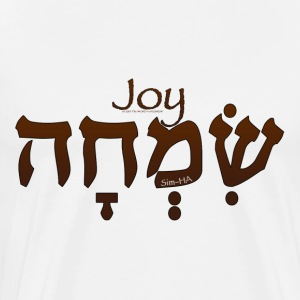 Joy in Hebrew (for LIGHT colors) T-Shirts - Men's Premium T-Shirt