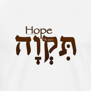 Hope in Hebrew (for LIGHT colors) T-Shirts - Men's Premium T-Shirt