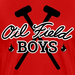 Oil Field Boys Black/White and the Sledge Hammers - Men's Premium T-Shirt