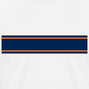 Navy Blue Orange Racing Stripe  - Men's Premium T-Shirt