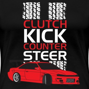 Clutch Kick Drift-white - Women's Premium T-Shirt
