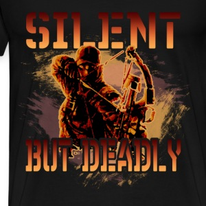 Bow hunting T-Shirt - Silent but deadly - Men's Premium T-Shirt