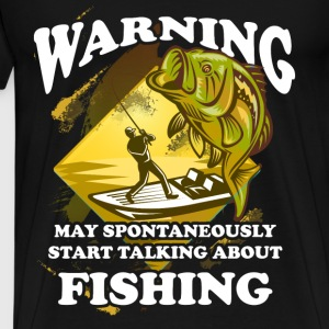 Fishing T-shirt - Talking about fishing - Men's Premium T-Shirt