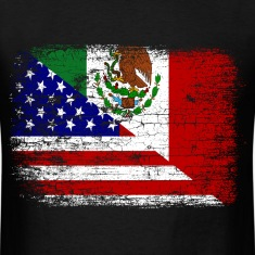 Vintage Mexican American Flag.