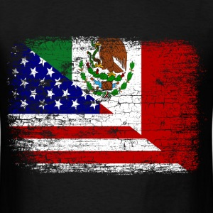 Vintage mexican american flag men s t shirt