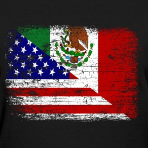 Vintage Mexican American Flag. - Women's T-Shirt