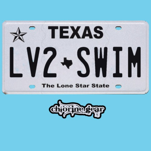 TX License Plate LV2SWIM