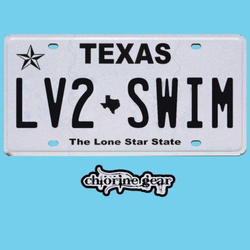 TX License Plate LV2SWIM