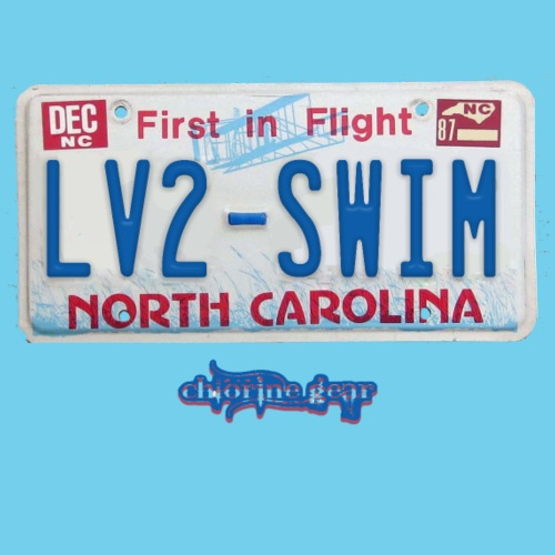 NC license plate LV2SWIM