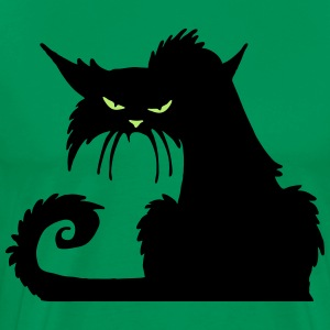 Angry Black Cat - Men's Premium T-Shirt