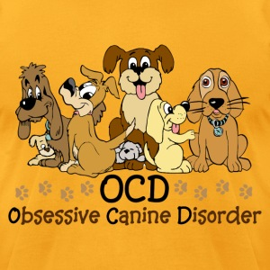 OCD Obsessive Canine - Men's T-Shirt by American Apparel