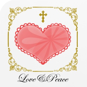 Love and Peace mousepad - Mouse pad Horizontal