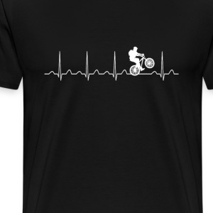 Mountainbike Heartbeat - Men's Premium T-Shirt