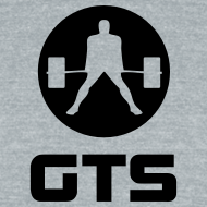 Design ~ GTS Deadlifter Black AA Tri-Blend Gray