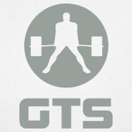 Design ~ GTS Deadlifter Gray AA Cotten - WHITE