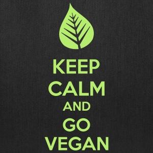 Keep Calm And Go Vegan Bags & backpacks - Tote Bag