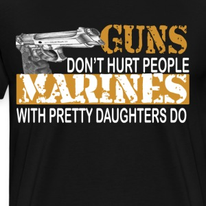 Marine with daughter T-Shirts - Men's Premium T-Shirt