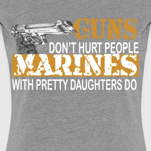 Marine with daughter Women's T-Shirts - Women's Premium T-Shirt