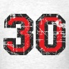 Number 30 Birthday T-Shirt (Men Black/Red) Vintage - Men's T-Shirt
