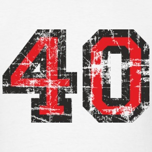 Number 40 Birthday T-Shirt (Men Black/Red) Vintage - Men's T-Shirt