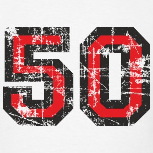 Number 50 Birthday T-Shirt (Men Black/Red) Vintage - Men's T-Shirt