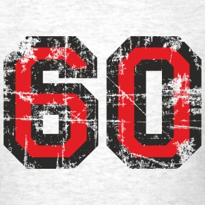 Number 60 Birthday T-Shirt (Men Black/Red) Vintage - Men's T-Shirt
