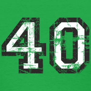 Number 40 Birthday T-Shirt (Women Black(White) Vin - Women's T-Shirt