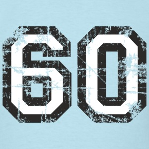 Number 60 Birthday T-Shirt (Men Black/White) Vinta - Men's T-Shirt