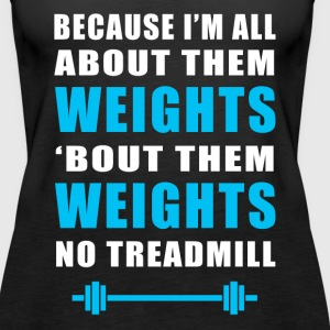 Funny Gym Weights Fitness - Women's Premium Tank Top