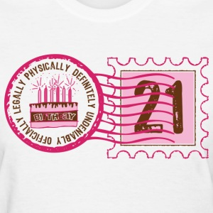 Birthday Stamp 21 Women's T-Shirts - Women's T-Shirt