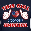 This Girl Loves America Women's T-Shirts - Women's T-Shirt