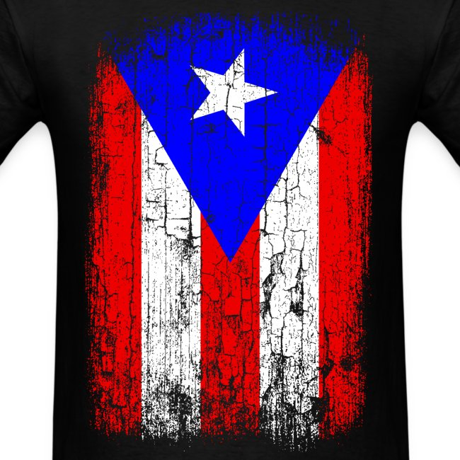 Vintage Puerto Rico Flag Mens T Shirt Design