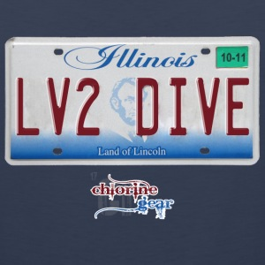 IL license plate LV2DIVE  Tank Tops - Men's Premium Tank