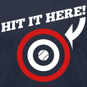 Hit it Here! (Atlanta, Boston, Cleveland, Minnesot - Men's T-Shirt by American Apparel