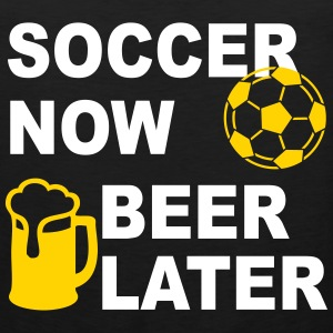 Soccer Now Beer Later Tank Tops - Men's Premium Tank