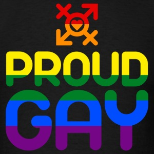 Proud Gay (colored) T-Shirts - Men's T-Shirt