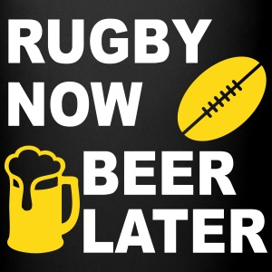Rugby Now Beer Later Mugs & Drinkware - Full Color Mug