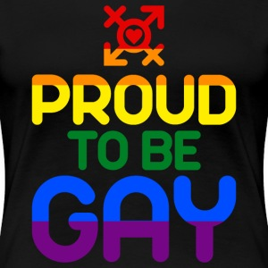 Proud to be Gay (colored) Women's T-Shirts - Women's Premium T-Shirt