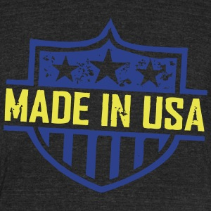 Made_In_USA T-Shirts - Unisex Tri-Blend T-Shirt by American Apparel