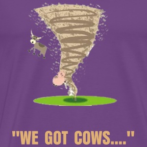 Tornado with flying cow.png T-Shirts - Men's Premium T-Shirt