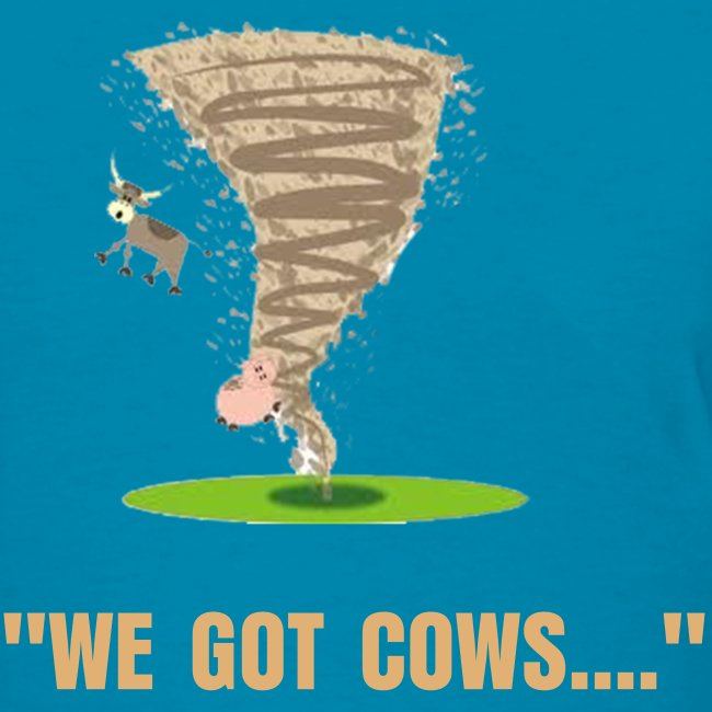 The Lolo Project Llc Tornado With Flying Cow And Pig Womens T