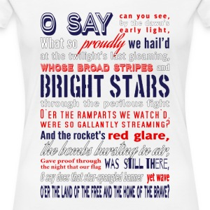 The Star-Spangled Banner Women's T-Shirts - Women's Premium T-Shirt
