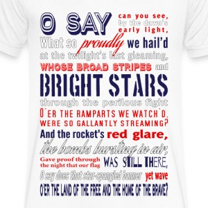 The Star-Spangled Banner T-Shirts - Men's V-Neck T-Shirt by Canvas
