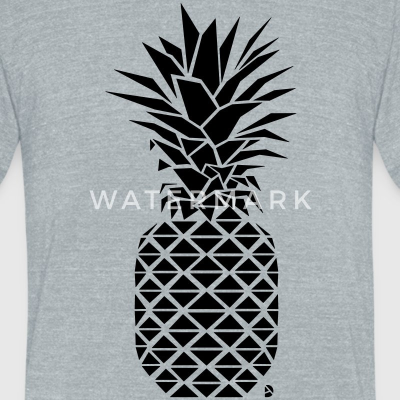 AD Geometric Pineapple T-Shirts - Unisex Tri-Blend T-Shirt by American Apparel