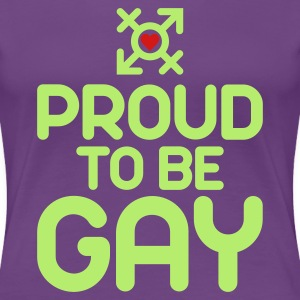 Proud to be Gay (2c) Women's T-Shirts - Women's Premium T-Shirt