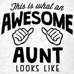 awesome aunt looks like - Men's T-Shirt