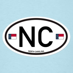 North Carolina Euro-Oval  - Men's T-Shirt