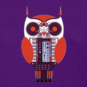 music techie owl - Women's T-Shirt