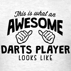 awesome darts player looks like - Men's T-Shirt