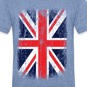 Vintage UK Union Jack Flag T-Shirts - Unisex Tri-Blend T-Shirt by American Apparel